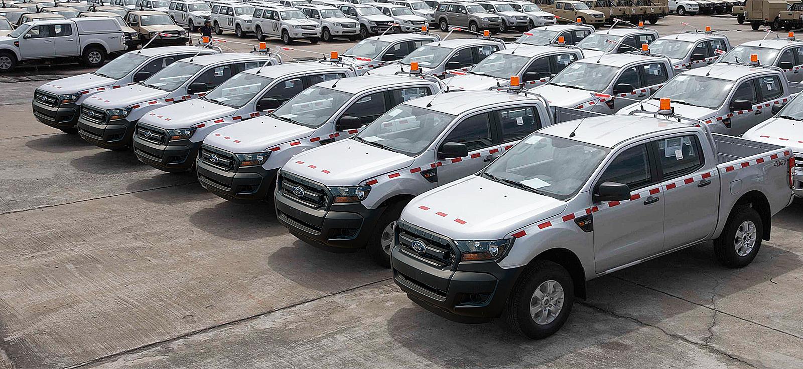 A Global Fleet Sales fleet of cars