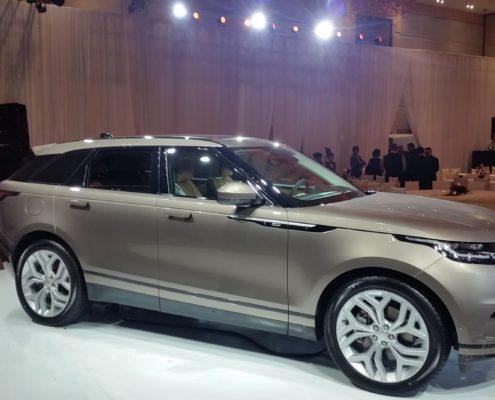 Side view of the Range Rover Velar