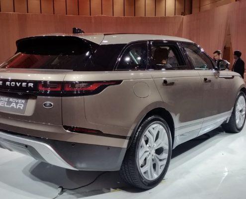 Rear view of the Range Rover Velar