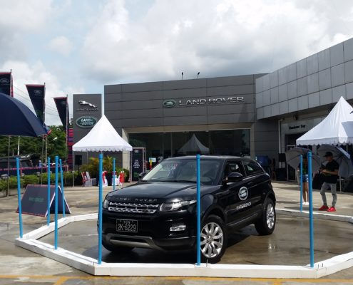 Land Rover display vehicle