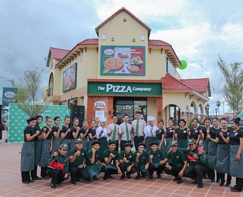 Opening of the Pizza Company in Kampong Cham Town