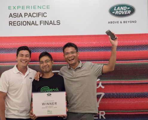 Winner of The Land Rover Experience Tour Peru 2017 Driving Challenge In Laos