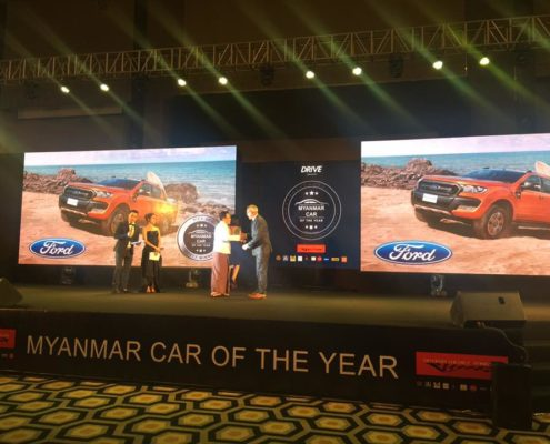 Presentation of the award - Myanmar Car of the Year Awards