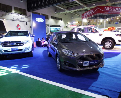 Ford Fiesta on display at the Vientiane International Motor Expo 2017