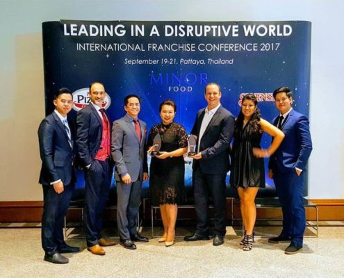 EFG Laos Awarded the Best QSC in Southeast Asia for Both Swensen's and The Pizza Company