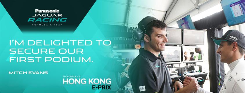 Mitch Evans & Panasonic Jaguar Racing Secure First Formula E Podium in Hong Kong