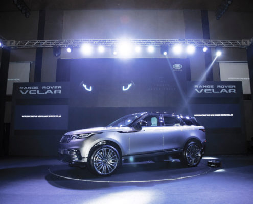 New Range Rover Velar on display at the Launch, Myanmar
