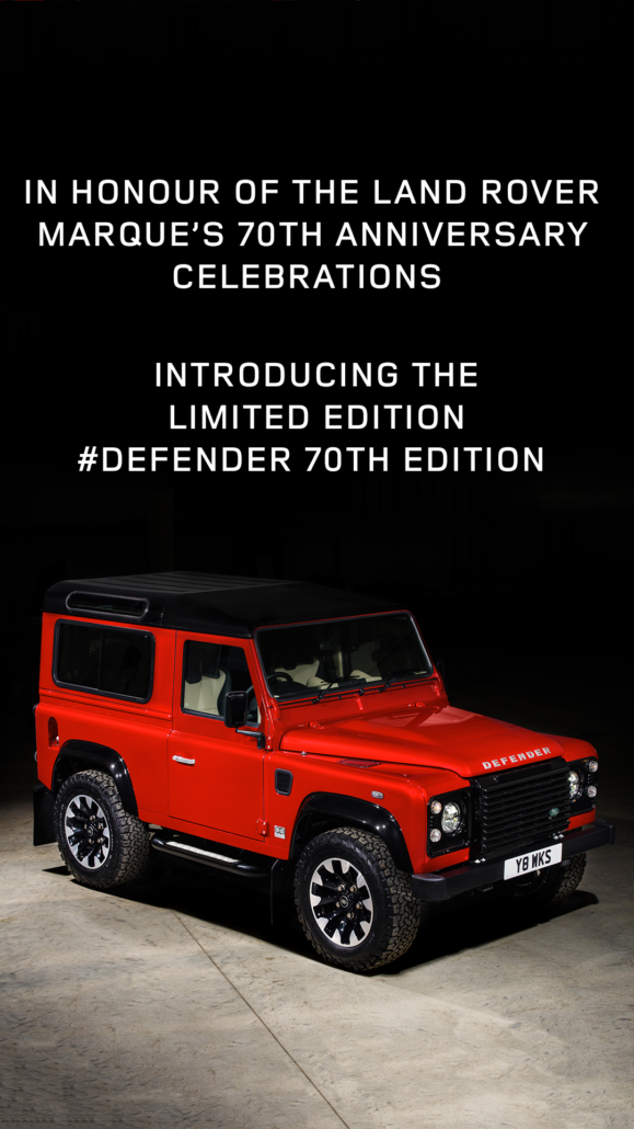 Defender Lives On Land Rover Launches V8 Edition To
