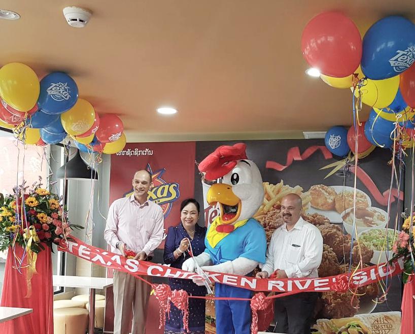 Texas Chicken Riverside Store Opens in Vientiane