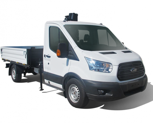 Ford Transit Flatbed and Crane